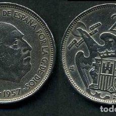 Monedas Franco: ESPAÑA 25 PESETAS AÑO 1957 *1964 ( GENERAL DICTADOR FRANCISCO FRANCO - MONEDA DEL FRANQUISMO ) Nº8. Lote 71978159