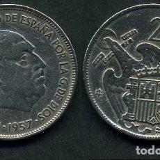 Monedas Franco: ESPAÑA 25 PESETAS AÑO 1957 *1964 ( GENERAL DICTADOR FRANCISCO FRANCO - MONEDA DEL FRANQUISMO ) Nº9. Lote 71978331