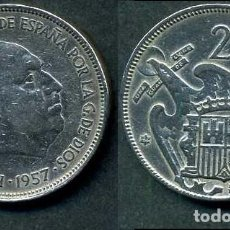 Monedas Franco: ESPAÑA 25 PESETAS AÑO 1957 *1964 ( GENERAL DICTADOR FRANCISCO FRANCO - MONEDA DEL FRANQUISMO ) Nº10. Lote 71978371