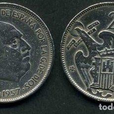 Monedas Franco: ESPAÑA 25 PESETAS AÑO 1957 *1964 ( GENERAL DICTADOR FRANCISCO FRANCO - MONEDA DEL FRANQUISMO ) Nº12. Lote 71978495