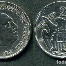 Monedas Franco: ESPAÑA 25 PESETAS AÑO 1957 *1961 ( GENERAL DICTADOR FRANCISCO FRANCO - MONEDA DEL FRANQUISMO ) Nº1. Lote 72013735