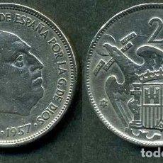 Monedas Franco: ESPAÑA 25 PESETAS AÑO 1957 *1961 ( GENERAL DICTADOR FRANCISCO FRANCO - MONEDA DEL FRANQUISMO ) Nº4. Lote 72013867