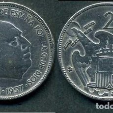 Monedas Franco: ESPAÑA 25 PESETAS AÑO 1957 *1961 ( GENERAL DICTADOR FRANCISCO FRANCO - MONEDA DEL FRANQUISMO ) Nº2. Lote 72014243