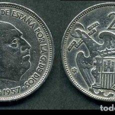Monedas Franco: ESPAÑA 25 PESETAS AÑO 1957 *1961 ( GENERAL DICTADOR FRANCISCO FRANCO - MONEDA DEL FRANQUISMO ) Nº3. Lote 72014443