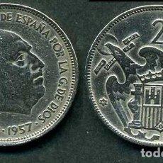 Monedas Franco: ESPAÑA 25 PESETAS AÑO 1957 *1961 ( GENERAL DICTADOR FRANCISCO FRANCO - MONEDA DEL FRANQUISMO ) Nº5. Lote 72014643