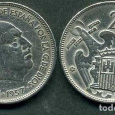 Monedas Franco: ESPAÑA 25 PESETAS AÑO 1957 *1961 ( GENERAL DICTADOR FRANCISCO FRANCO - MONEDA DEL FRANQUISMO ) Nº6. Lote 72014719