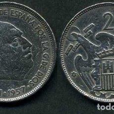 Monedas Franco: ESPAÑA 25 PESETAS AÑO 1957 *1961 ( GENERAL DICTADOR FRANCISCO FRANCO - MONEDA DEL FRANQUISMO ) Nº8. Lote 72014887