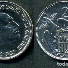 Monedas Franco: ESPAÑA 25 PESETAS AÑO 1957 *1959 ( GENERAL DICTADOR FRANCISCO FRANCO - MONEDA DEL FRANQUISMO ) Nº1. Lote 72023235
