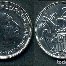 Monedas Franco: ESPAÑA 25 PESETAS AÑO 1957 *1959 ( GENERAL DICTADOR FRANCISCO FRANCO - MONEDA DEL FRANQUISMO ) Nº2. Lote 72025739