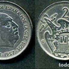 Monedas Franco: ESPAÑA 25 PESETAS AÑO 1957 *1959 ( GENERAL DICTADOR FRANCISCO FRANCO - MONEDA DEL FRANQUISMO ) Nº4. Lote 72026019