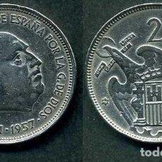 Monedas Franco: ESPAÑA 25 PESETAS AÑO 1957 *1959 ( GENERAL DICTADOR FRANCISCO FRANCO - MONEDA DEL FRANQUISMO ) Nº5. Lote 72026091