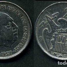 Monedas Franco: ESPAÑA 25 PESETAS AÑO 1957 *1959 ( GENERAL DICTADOR FRANCISCO FRANCO - MONEDA DEL FRANQUISMO ) Nº8. Lote 72026343