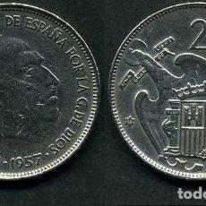 Monedas Franco: ESPAÑA 25 PESETAS AÑO 1957 *1959 ( GENERAL DICTADOR FRANCISCO FRANCO - MONEDA DEL FRANQUISMO ) Nº12. Lote 72026659
