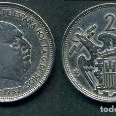Monedas Franco: ESPAÑA 25 PESETAS AÑO 1957 *1958 ( GENERAL DICTADOR FRANCISCO FRANCO - MONEDA DEL FRANQUISMO ) Nº2. Lote 72085051