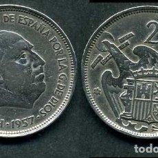Monedas Franco: ESPAÑA 25 PESETAS AÑO 1957 *1958 ( GENERAL DICTADOR FRANCISCO FRANCO - MONEDA DEL FRANQUISMO ) Nº3. Lote 72085067