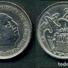 Monedas Franco: ESPAÑA 25 PESETAS AÑO 1957 *1958 ( GENERAL DICTADOR FRANCISCO FRANCO - MONEDA DEL FRANQUISMO ) Nº4. Lote 72085075