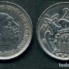 Monedas Franco: ESPAÑA 25 PESETAS AÑO 1957 *1958 ( GENERAL DICTADOR FRANCISCO FRANCO - MONEDA DEL FRANQUISMO ) Nº5. Lote 72085079