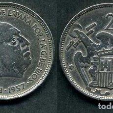 Monedas Franco: ESPAÑA 25 PESETAS AÑO 1957 *1958 ( GENERAL DICTADOR FRANCISCO FRANCO - MONEDA DEL FRANQUISMO ) Nº6. Lote 72085091