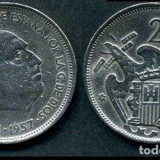 Monedas Franco: ESPAÑA 25 PESETAS AÑO 1957 *1958 ( GENERAL DICTADOR FRANCISCO FRANCO - MONEDA DEL FRANQUISMO ) Nº11. Lote 72085123