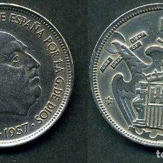 Monedas Franco: ESPAÑA 50 PESETAS AÑO 1957 *1958 ( GENERAL DICTADOR FRANCISCO FRANCO - MONEDA DEL FRANQUISMO ) Nº5. Lote 72194991