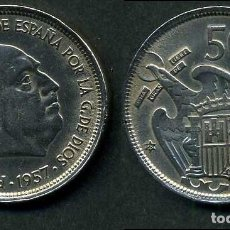 Monedas Franco: ESPAÑA 50 PESETAS AÑO 1957 *1958 ( GENERAL DICTADOR FRANCISCO FRANCO - MONEDA DEL FRANQUISMO ) Nº8. Lote 72196255