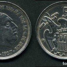 Monedas Franco: ESPAÑA 50 PESETAS AÑO 1957 *1958 ( GENERAL DICTADOR FRANCISCO FRANCO - MONEDA DEL FRANQUISMO ) Nº12. Lote 72196643