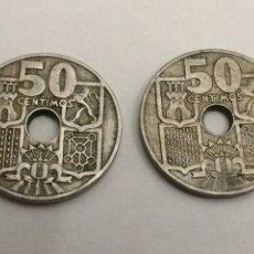 Monedas Franco: 2 MONEDAS 50 CENTIMOS DE 1949. REF239. Lote 74278191