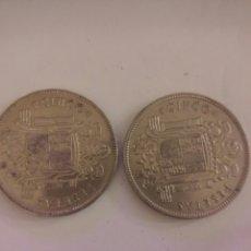 Monedas Franco: 2 MONEDAS DE 5 PESETAS 1949 (DURO CABEZON). Lote 74626093