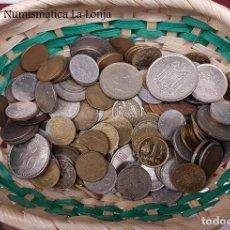 Monedas Franco: LOTE 1 KILO VARIADO DE MONEDAS ESPAÑOLAS 1870 - 2001 REPÚBLICA - FRANCO - JUAN CARLOS I. Lote 254476020