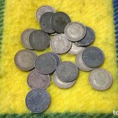 Monedas Franco: LOTE 25 MONEDAS 1 PESETA FRANCO ESTADO ESPAÑOL ESTRELLAS 47, 53, 63. Lote 76011079