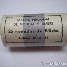 Monedas Franco: ESPAÑA 1967. CARTUCHO MONEDAS DE PLATA DE 100 PESETAS DE FRANCO AÑO 1966 *67. Lote 105202468