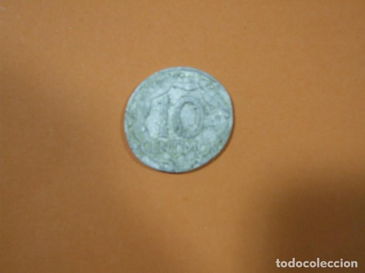 Monedas Franco: 2 Monedas de 10 centimos de peseta Franco año 1959 Error Acuñación y Undimiento - Moneda Fallo - Foto 3 - 80451113