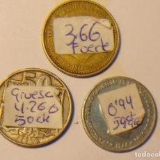 Monedas Franco: LOTE DE 3 MONEDAS DISTINTAS CON FALLOS DE PESO . Lote 80674814