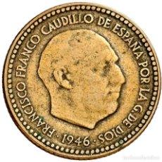 Monedas Franco: LA MAS DIFÍCIL - 1 PESETA 1946 *48 - MUY MUY RARA Y MAS EN ESTE ESTADO, SOLO HAY 139!. Lote 80887647