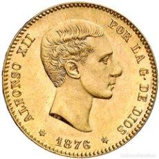 Monedas Franco: REACUÑACION OFICIAL - MUY RARA - SIN CIRCULAR - 25 PESETAS ALFONSO XII 1876 * 18-76. Lote 80891607