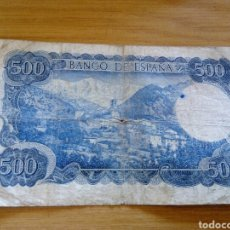 Monedas Franco: 2 BILLETES DE 500 PTS USADOS. Lote 82517244