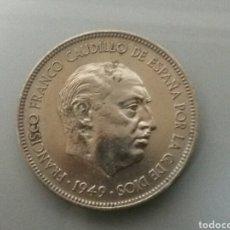 Monedas Franco: MONEDA 5 PESETAS 1949 *49. Lote 82804492