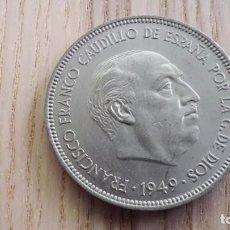 Monedas Franco: MONEDA 5 PESETAS (GRANDE) 1949. ESTRELLAS 19 50. Lote 83585276