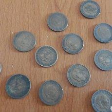 Monedas Franco: LOTE 12 MONEDAS ESPAÑOLAS 1 PESETA. AÑOS 1947. 1953. 1963.. Lote 84313634