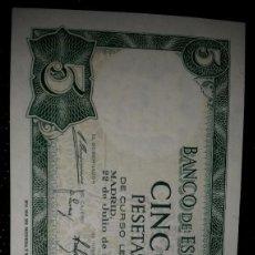 Monedas Franco: BILLETES 5 PESETAS 1954 CORRELATIVOS. Lote 84281488