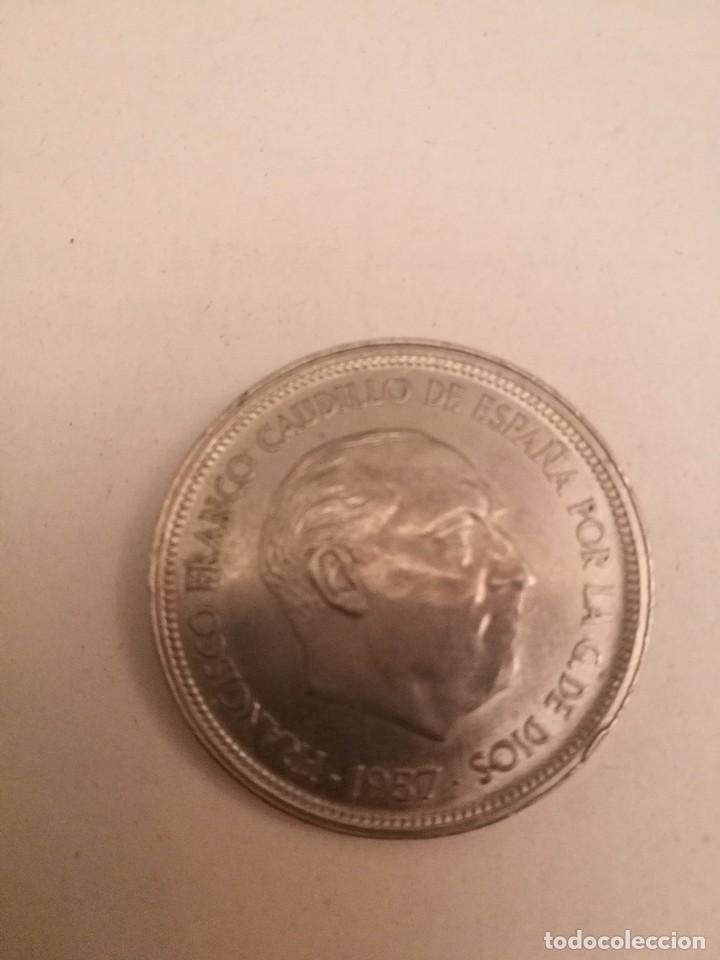 Monedas Franco: Moneda de 50 pts de franco.año 1957 estrella 68 prueba - Foto 2 - 84378400