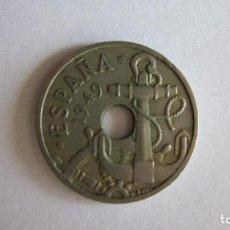 Monedas Franco: CINCUENTA CÉNTIMOS. 1949 *51. FLECHAS HACIA ABAJO.. Lote 85046148