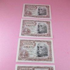 Monedas Franco: LOTE 4 BILLETES-CORRELATIVOS-1 PESETA-MADRID 22 JULIO 1953-CON SERIE-PLANCHA-VER FOTOS.. Lote 86765896