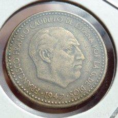 Monedas Franco: ¡¡¡ 1 PESETA DEL ESTADO ESPAÑOL DE 1947*49 MBC+ !!!. Lote 95787659