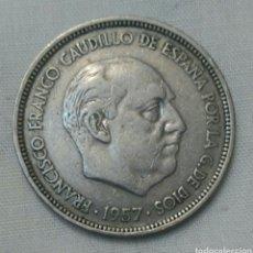 Monedas Franco: MONEDA DE 5 PESETAS DE 1957, ESTRELLA 50. EL LLAMADO DURO. Lote 93879097