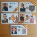 Monedas Franco: TARJETAS CONMEMORATIVAS DE GOBERNANTES DE ESPAÑA. Lote 94166675