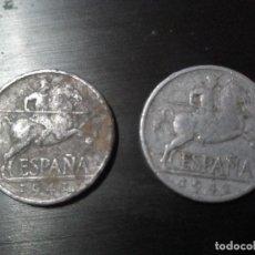 Monedas Franco: LOTE 2 MONEDAS: 5 CÉNTIMOS 1941. Lote 94489790