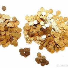 Monedas Franco: 500 MONEDAS DE UNA 1 PESETA DE JUAN CARLOS Y FRANCO AÑOS 1947 1953 1963 1966 1975 PESETAS RUBIAS. Lote 94719507