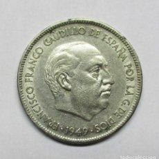 Monedas Franco: 5 PESETAS 1949 * 19 - 51. MONEDA CON LA SEGUNDA ESTRELLA 51 TROQUELADA O RECTIFICADA. LOTE 0612. Lote 95271151