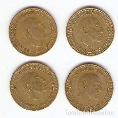 Monedas Franco: A10 - CUATRO MONEDAS DE UNA PESETA DE FRANCO EMISION 1966. Lote 95327611